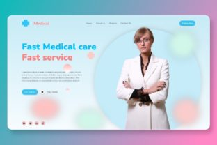Print on Demand: Medical Landing Page Website Templates Graphic Landing Page Templates By themesfusion