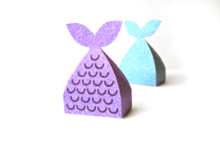 Mermaid Tail Gift Box SVG Graphic 3D Shapes By RisaRocksIt