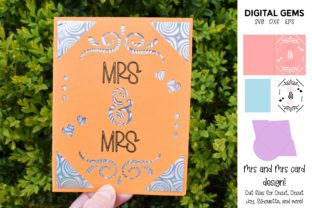 Mrs and Mrs Card Design Graphic Crafts By Digital Gems