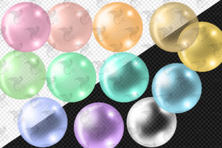 Print on Demand: Pastel Rainbow Balloon Arch Clipart Graphic Illustrations By Digital Curio 6