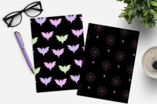 Print on Demand: Pink Halloween Digital Paper Pack Graphic Illustrations By TheGGShop 3