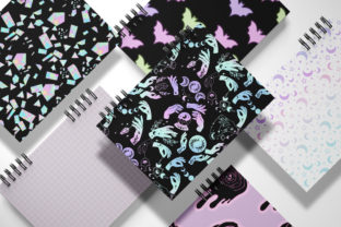 Print on Demand: Pink Halloween Digital Paper Pack Graphic Illustrations By TheGGShop 7