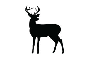 Deer Silhouette Animals Craft Cut File By Creative Fabrica Crafts