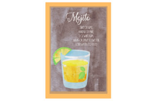 Mojito Cocktail Recipe Food & Drinks Craft Cut File By Creative Fabrica Crafts