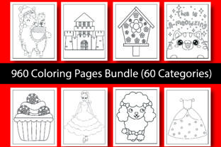 960 Coloring Pages for Kids Bundle Graphic KDP Interiors By eliteasia