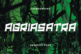 Print on Demand: Agriasatra Display Font By Letter Fia