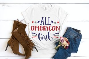 All American Girl   4th of July Svg Graphic Illustrations By VectorEnvy
