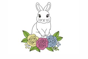 Bunny Easter Embroidery Design By SonyaEmbroideryStore