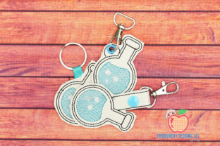 Chemist Beaker ITH Keyfob Back to School Embroidery Design By embroiderydesigns101