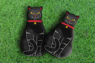 Cute Cat Stuffie ITH Cats Embroidery Design By Wilansa