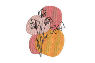 Flower Floral & Garden Embroidery Design By Canada Crafts Studio