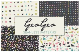 Print on Demand: Hand Drawn Geometric Digital Papers Graphic Patterns By illuztrate