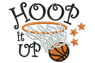 Print on Demand: Hoop It Up Hobbies & Sports Embroidery Design By litcyz