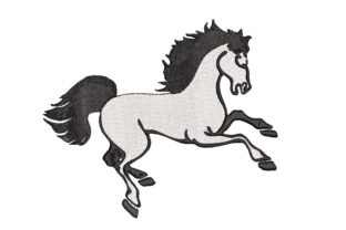 Print on Demand: Horse Animals Embroidery Design By ArtEMByNatali