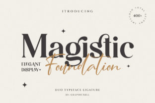 Print on Demand: Magistic Foundation Serif Font By Graphicxell 1