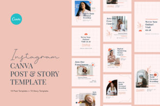 Print on Demand: Online Course Instagram Canva Graphic Graphic Templates By peterdraw