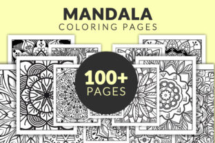 Print on Demand: 100+ Mandala Coloring Pages Bundle - KDP Graphic Coloring Pages & Books Adults By TSDesign