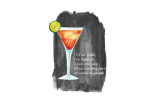 Cosmopolitan Cocktail Recipe Food & Drinks Craft Cut File By Creative Fabrica Crafts