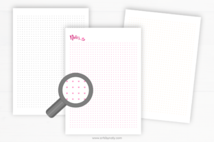 Print on Demand: 30 Cute Printable Notebook Paper Pages. Graphic KDP Interiors By artsbynaty 4