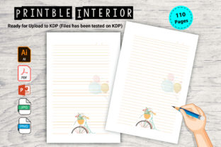 Print on Demand: A Journal with a Bicycle Illustration. Graphic KDP Interiors By Kids_Zone