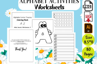 ABC Handwriting Workbook Graphic Coloring Pages & Books Kids By Designer Ajefa