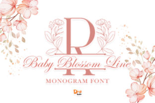 Print on Demand: Baby Blossom Line Decorative Font By dmletter31
