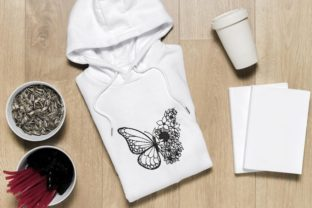 Print on Demand: Butterfly with Flower Bugs & Insects Embroidery Design By ArtEMByNatali 2