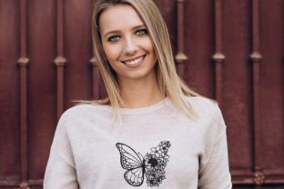 Print on Demand: Butterfly with Flower Bugs & Insects Embroidery Design By ArtEMByNatali 3
