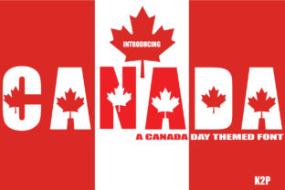Print on Demand: Canada Decorative Font By KtwoP