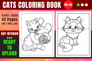 Print on Demand: Cat Coloring Book Pages for Kids - 03 Graphic Coloring Pages & Books Kids By Merch Rain