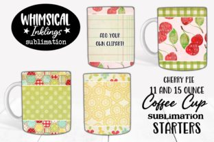 Coffee Cup Sublimation Starters Graphic Illustrations By Whimsical Inklings