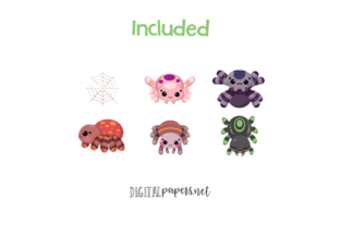 Cute Spiders Clipart - 2