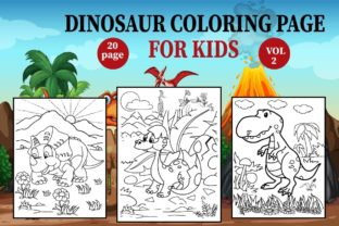 Dinosaur Coloring Page for Kids Graphic Coloring Pages & Books Kids By Treaty Art