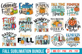 Fall Sublimation Bundle Vol.3 Graphic Crafts By CraftlabSVG 1