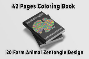 Print on Demand: Farm Animal Zentangle Coloring Book Graphic Coloring Pages & Books Adults By bengalcanvas