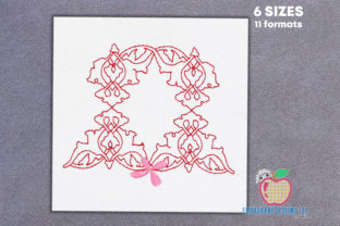 Floral Quilting Line Art Paisley Embroidery Design By embroiderydesigns101