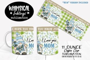 I Love You Mom 2 Coffee Cup Graphic Illustrations By Whimsical Inklings