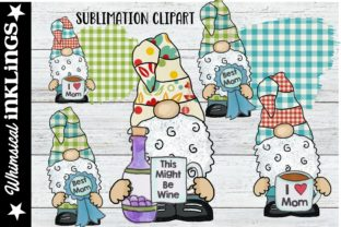 Just for Mom Gnomes Graphic Illustrations By Whimsical Inklings