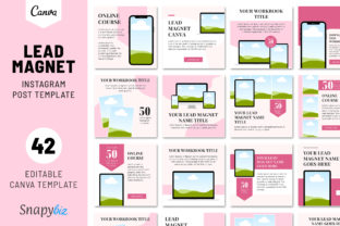Print on Demand: Lead Magnet Instagram Post Template Graphic Presentation Templates By SnapyBiz