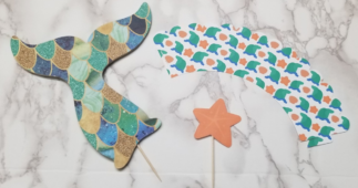 Making Mermaid Wrappers, Toppers & Cake Topper