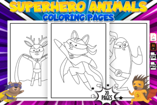 Print on Demand: Superhero Animals Coloring Pages - Kdp Graphic Coloring Pages & Books Kids By Kristy Coloring
