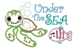 Print on Demand: Under the Sea Fish & Shells Embroidery Design By litcyz