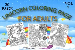 Unicorn Coloring Page for Adults Graphic Coloring Pages & Books Adults By Treaty Art