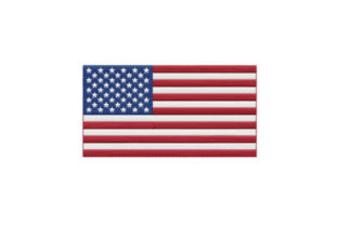 Print on Demand: United States of America Flag Independence Day Embroidery Design By EmbArt