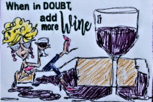 When in Doubt Add More Wine Wine & Drinks Embroidery Design By Bella Bleu Embroidery