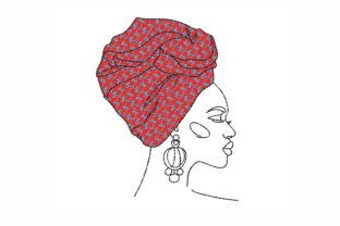 Woman Beauty Embroidery Design By SonyaEmbroideryStore