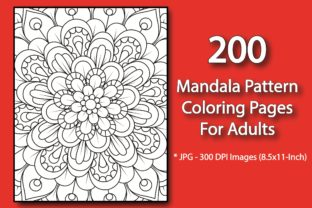 200 Mandala Pattern Coloring Pages Graphic KDP Interiors By eliteasia