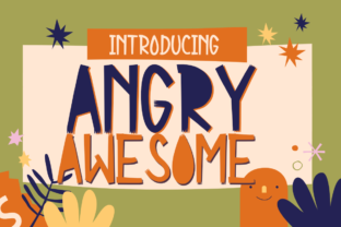 Print on Demand: Angry Awesome Display Font By Letterayu