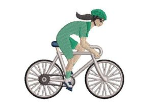 Athletic Cyclist Sports Embroidery Design By Embroidery Designs
