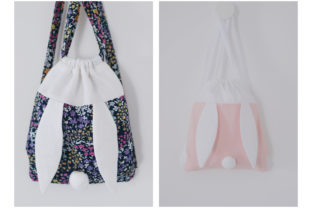 Bunny Drawstring Bags Graphic Sewing Patterns By jeremyfrossard